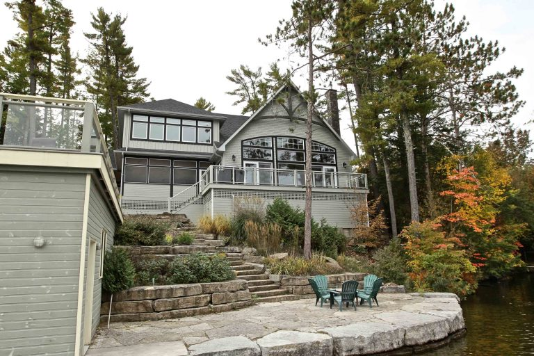 custom built cottage - exterior from lake 2