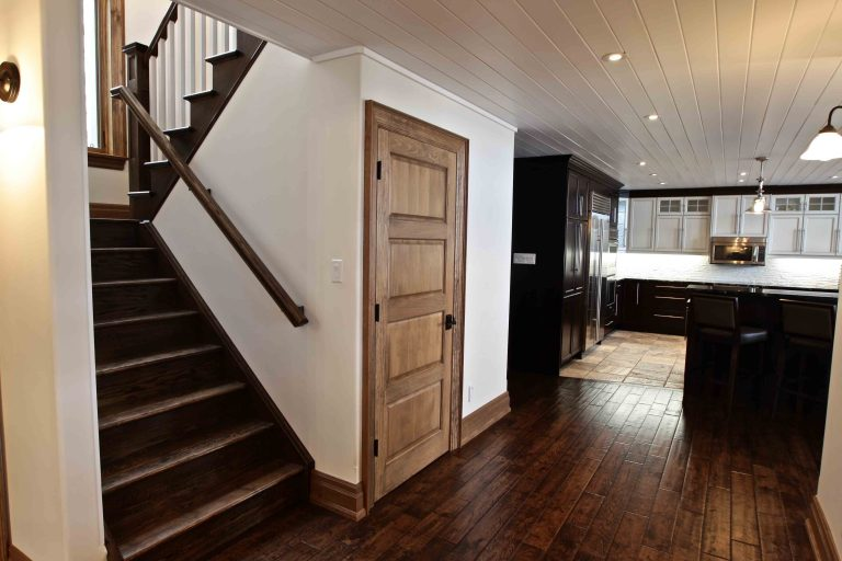 custom built cottage - front stairwell