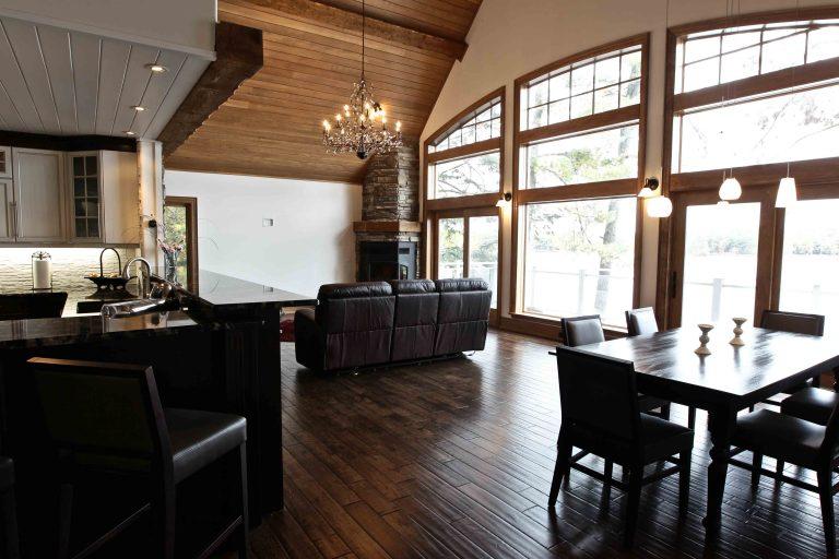 custom built cottage - living/dining area