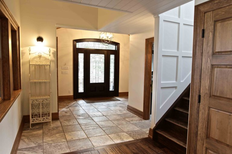 custom built cottage - front entry