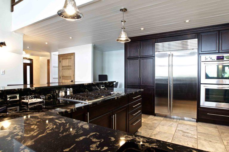 custom built cottage - kitchen and fridge