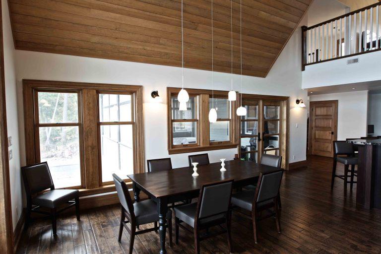 custom built cottage - dining room