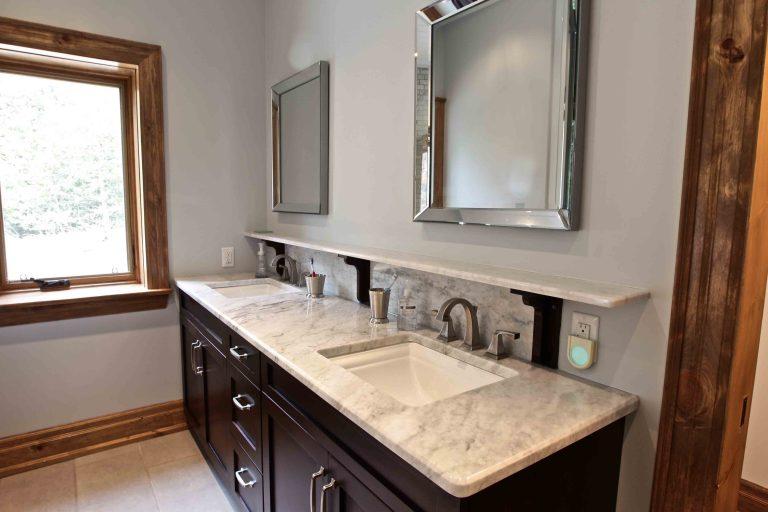 custom built cottage - bathroom sinks