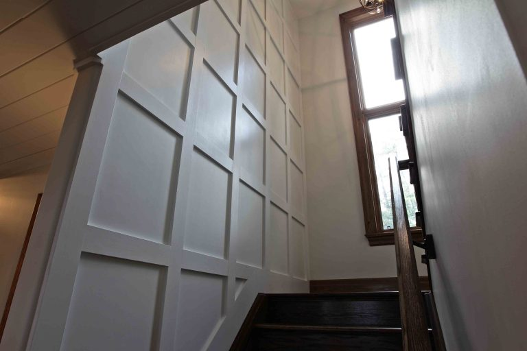 custom built cottage - staircase to 2nd floor