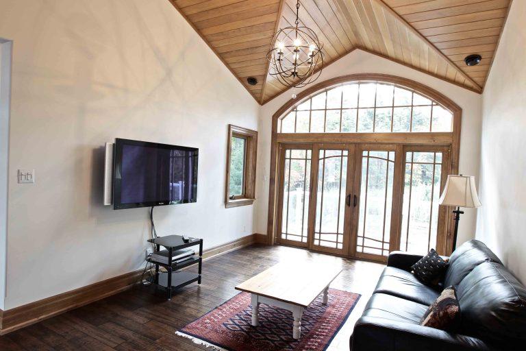 custom built cottage - TV room