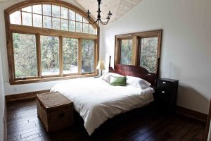 custom built cottage - master bedroom