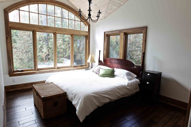 custom built cottage - master bedroom