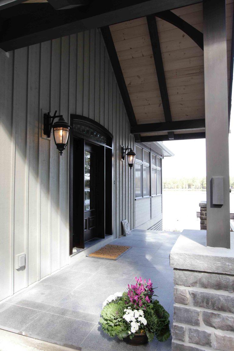 custom built cottage - front door