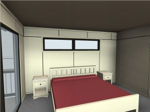 custom stoney lake cottage - Bedroom Revit Plan