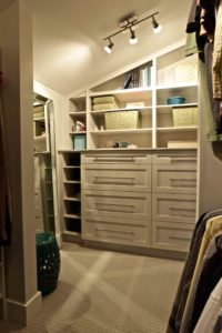 interior renovation - walk-in closet