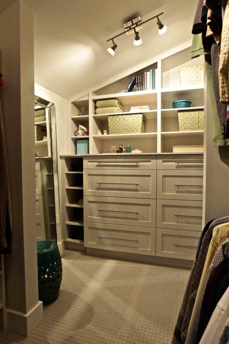 interior renovation - walk-in closet