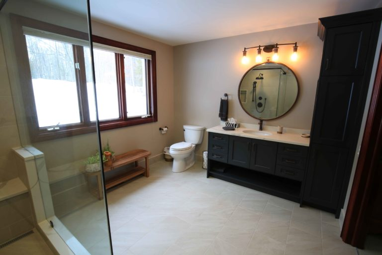 Clear Lake Bathroom Renovation - View from Door