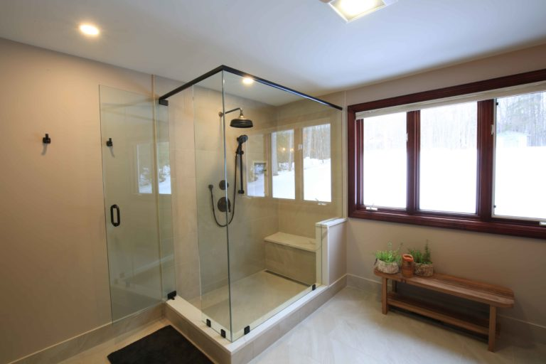 Clear Lake Bathroom Renovation - Shower and Window view