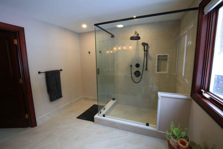 Clear Lake Bathroom Renovation - Shower Glass