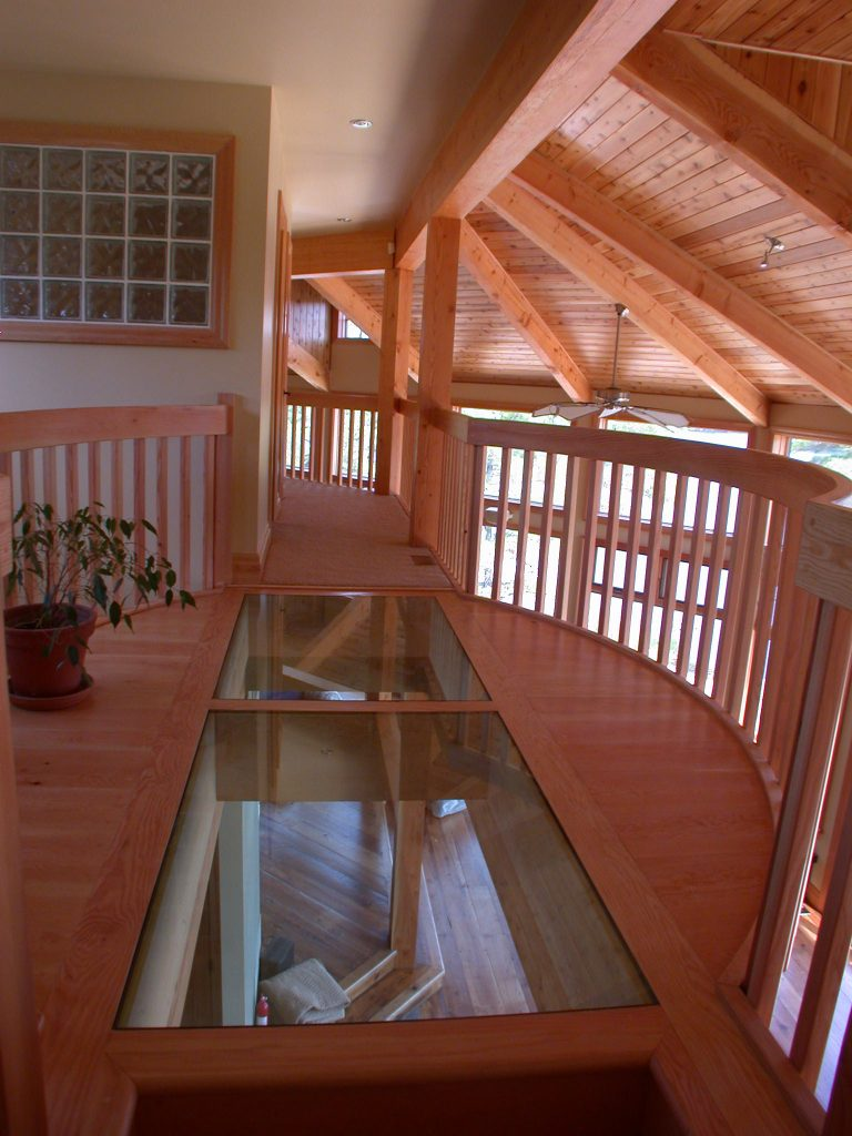 custom award winning home - upstairs hallway
