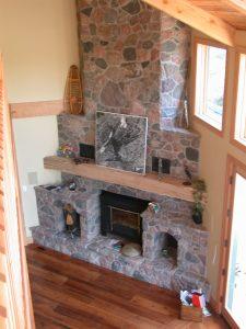 custom award winning home - fireplace