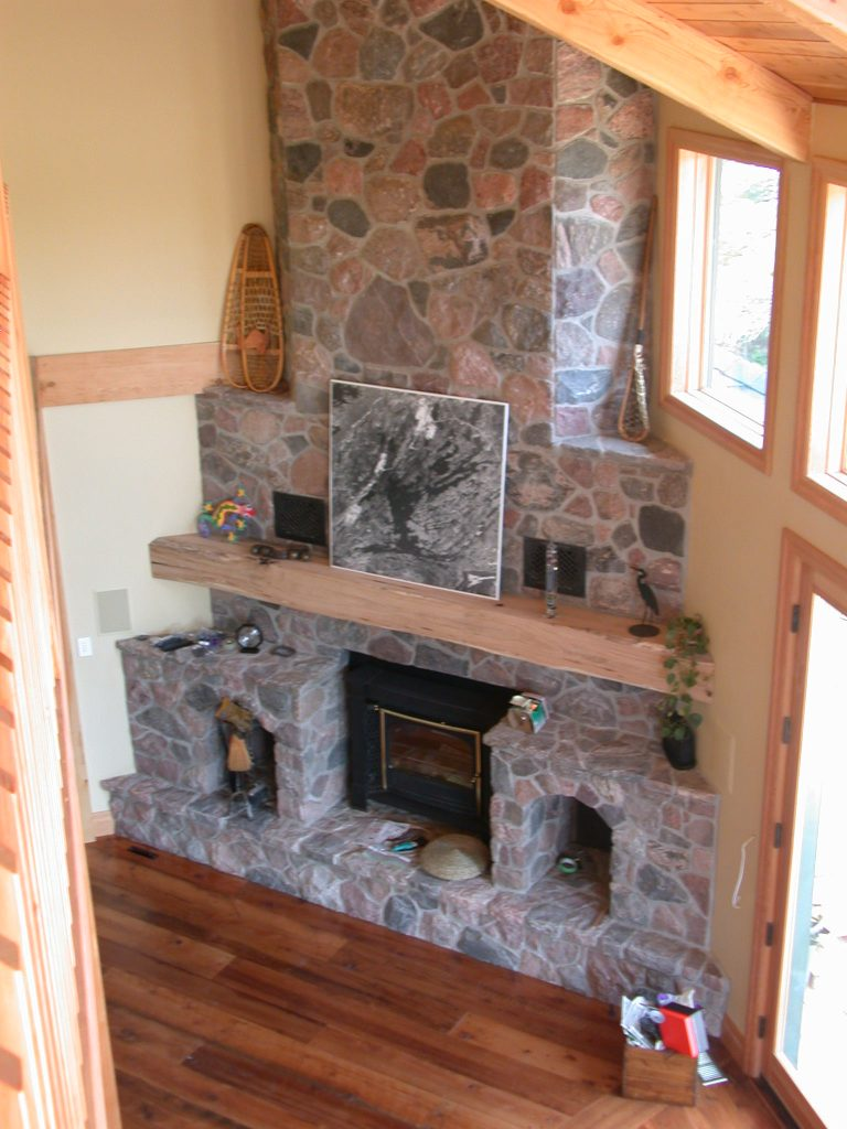 custom award winning home - fireplace