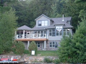 r2000 custom home - exterior from lake