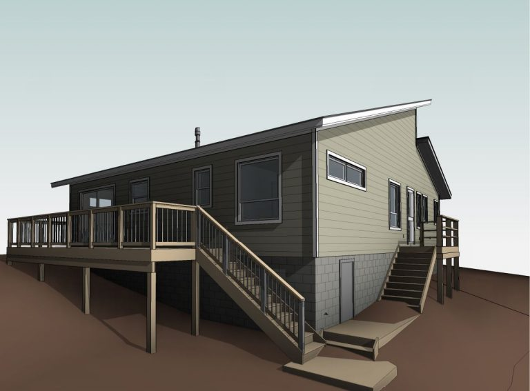 custom stoney lake cottage - Revit Drawing