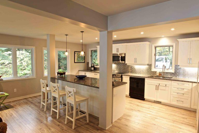home renovation - walking into kitchen