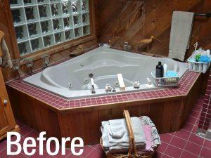 soaker tub - before