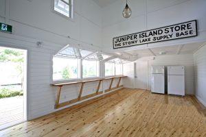 Juniper Island Store Rebuild - Interior of Store