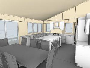 custom stoney lake cottage - Kitchen Plan