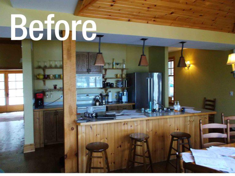 Buckhorn Cottage Renovation - Kitchen Area Before