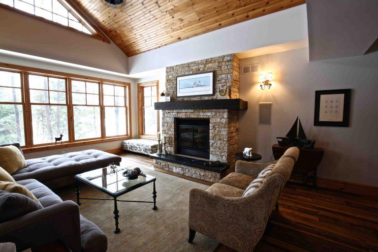 Buckhorn Cottage Renovation - Living Room and Fireplace