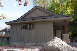 Buckhorn garage - exterior siding