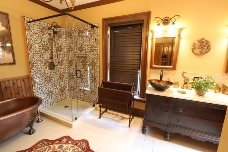 Lakefield Bathroom Renovation - Copper Tub
