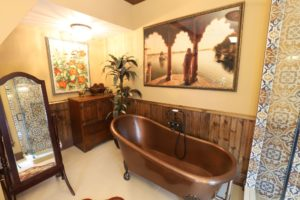 Lakefield Bathroom Renovation - Copper Tub and Artwork