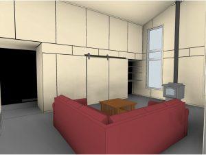 custom stoney lake cottage - Living Room Revit Drawing