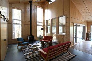 custom stoney lake cottage - Living Room with Fireplace