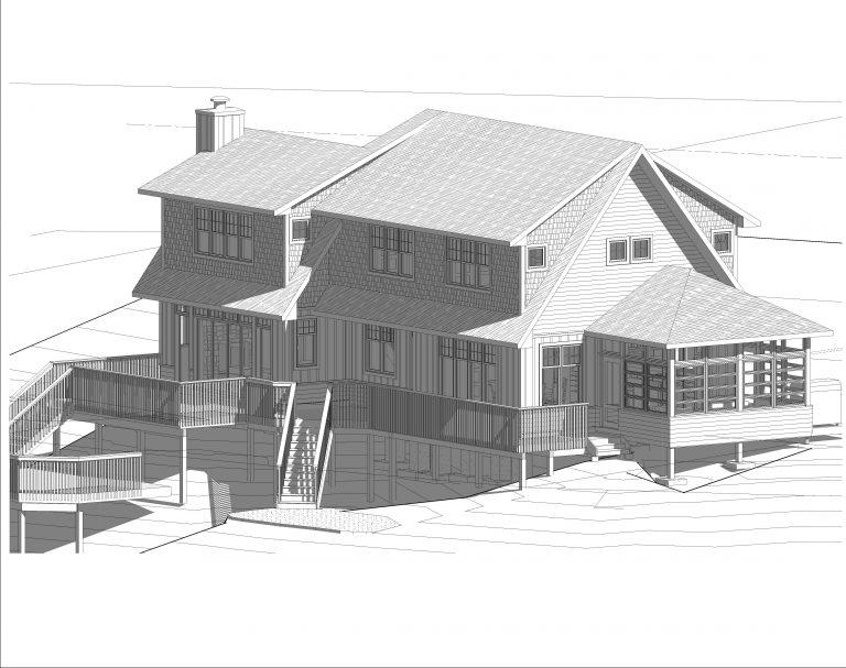 stoney lake custom cottage build-revit drawing
