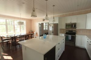 stoney lake custom cottage build-kitchen