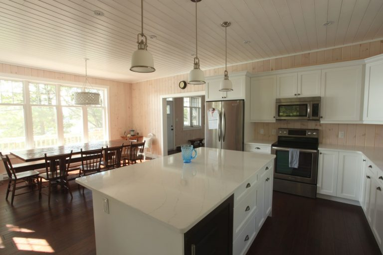 stoney lake custom cottage build-kitchen
