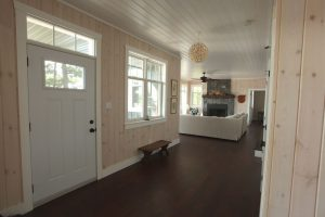 stoney lake custom cottage build-hallways