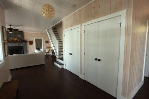 stoney lake custom cottage build-closets