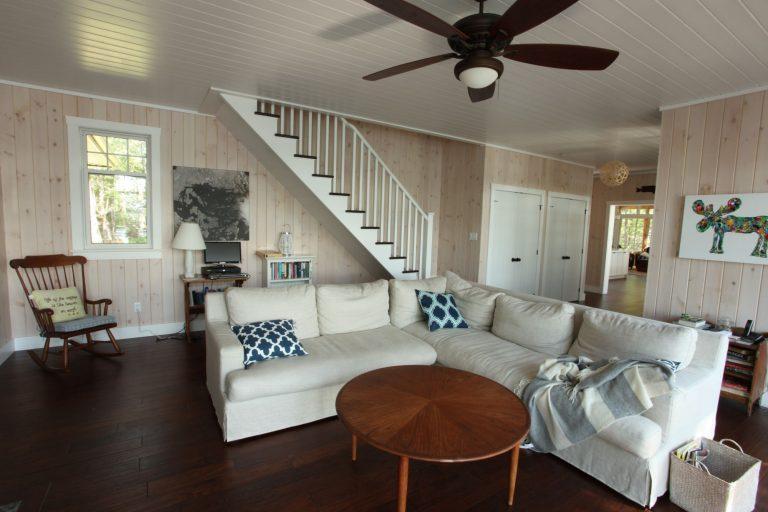 stoney lake custom cottage build-living room 2