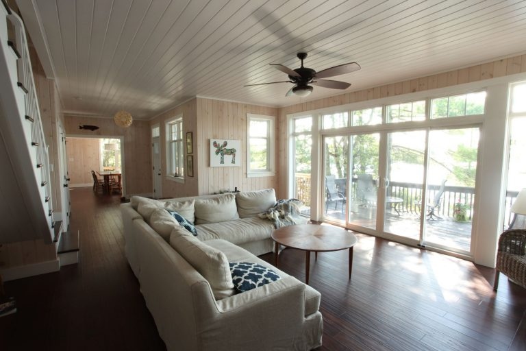 stoney lake custom cottage build-living room