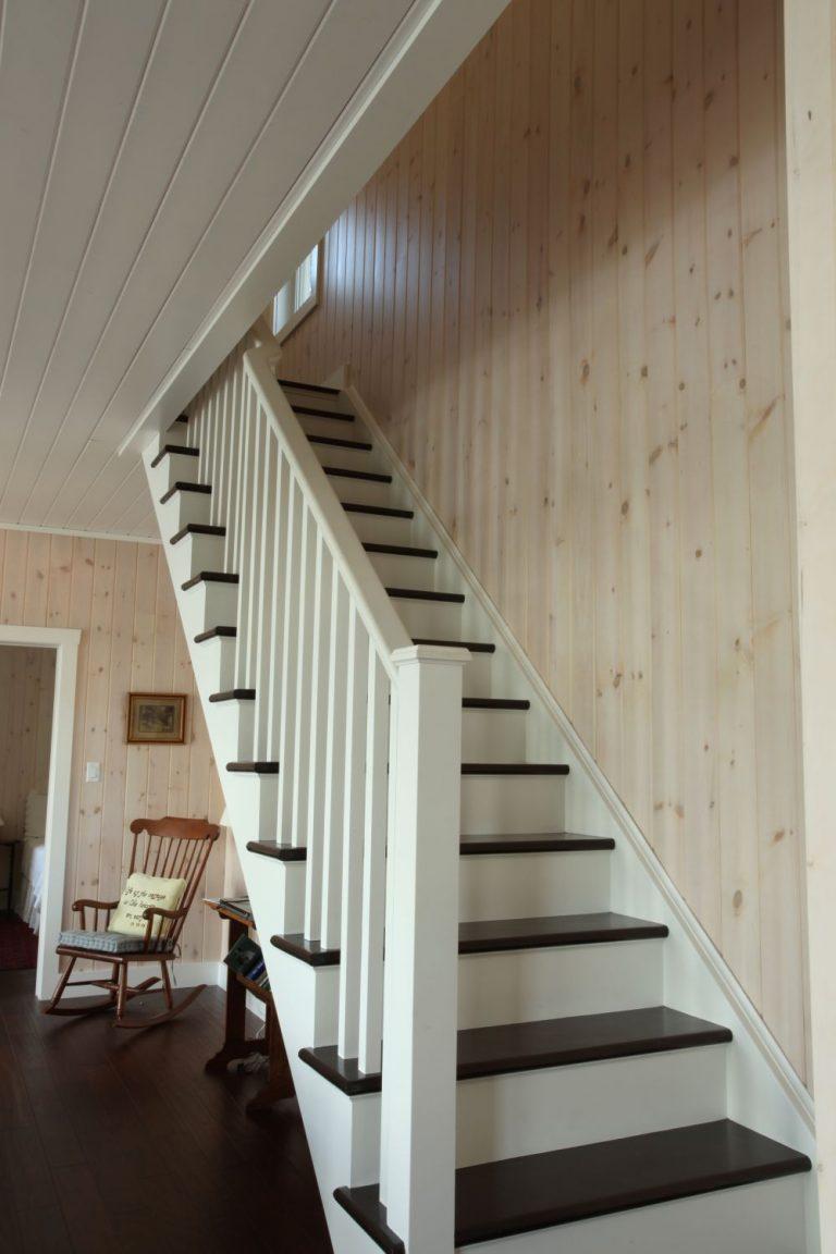 stoney lake custom cottage build-staircase
