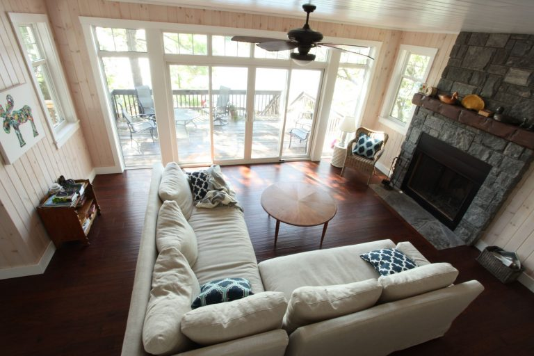 stoney lake custom cottage build-living room 3
