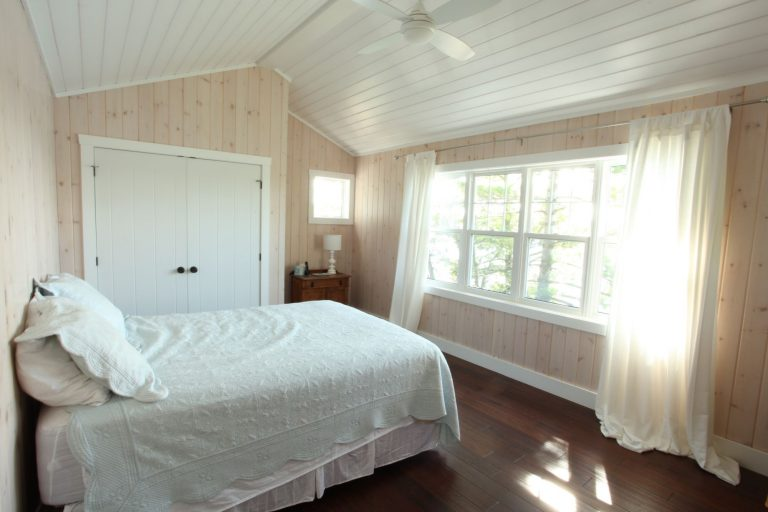 stoney lake custom cottage build-guest bedroom