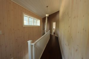 stoney lake custom cottage build-upstairs hallway