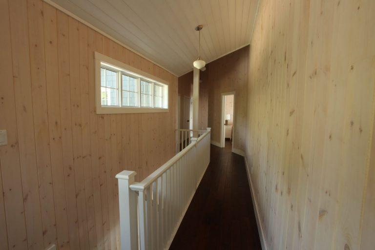stoney lake custom cottage build-upstairs hallway