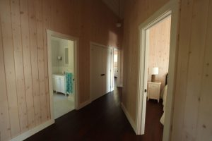 stoney lake custom cottage build-second floor hallway