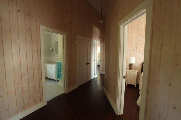 stoney lake custom cottage build-second floor hallway