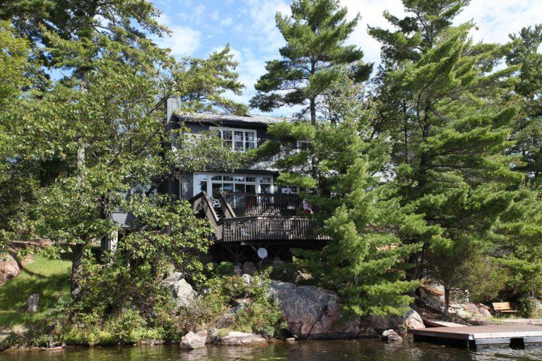 stoney lake custom cottage build-exterior from lake