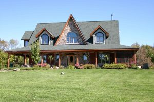 lakefield custom home - front of home